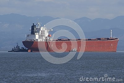 Vrachtschip het Aankomen