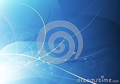 Het abstracte Blauw Achtergrond van het Behang