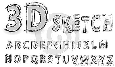Het alfabet van de schets