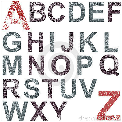 Het alfabet van Grunge