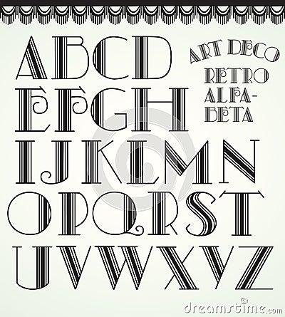 Het alfabet van het art deco