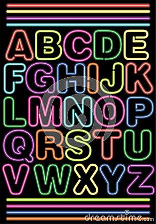 Het Alfabet van het neon