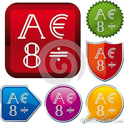 Het alfabet van het pictogram