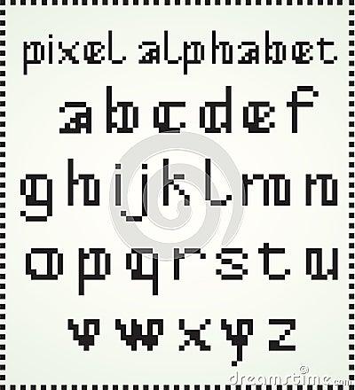 Het Alfabet van het pixel