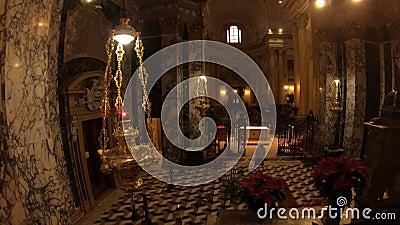 Het altaar van San Luca Church stock videobeelden