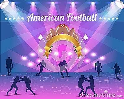 Het Amerikaanse VectorOntwerp van het Schild van de Voetbal