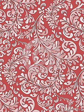 Het antieke Naadloze Patroon van het Behang