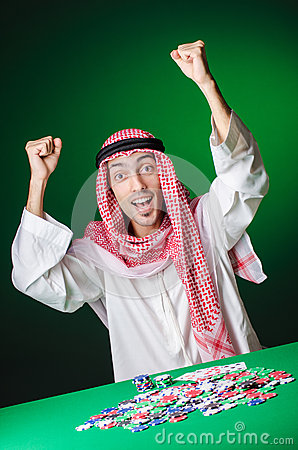 Het Arabische spelen in casino