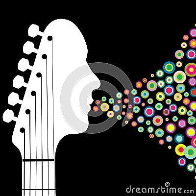 Het asblokillustratie van de gitaar