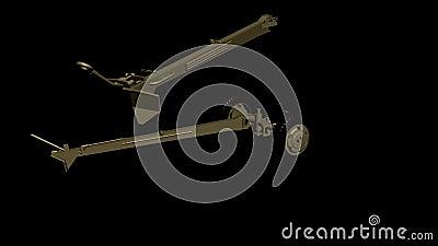 Het assembleren van het 105 mm-kanon, houwitser lengte animatie stock illustratie