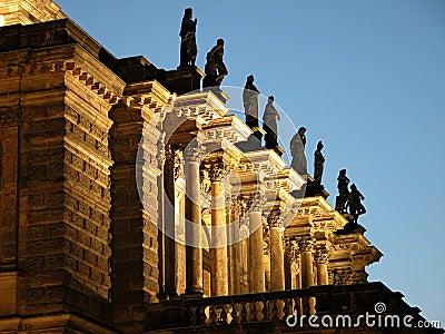 Het balkon van de opera