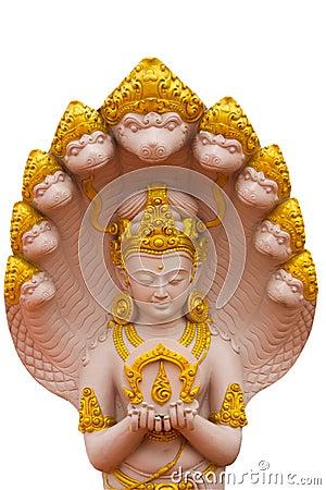 Het beeld van goden met Naga