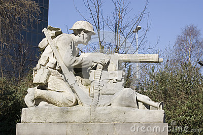 Het beeldhouwwerk van de Artillerist van het noorden, Portsmouth