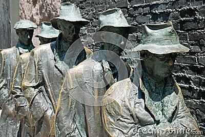 Het beeldhouwwerk van de honger van het Gedenkteken van Franklin Roosevelt Redactionele Afbeelding