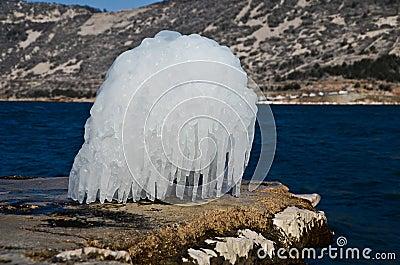 Het beeldhouwwerk van het ijs