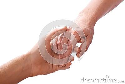 Het bereiken van handen