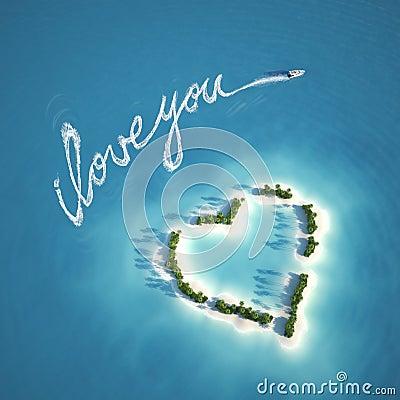 Het bericht van de liefde op het water