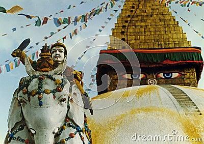Het bewaken van de tempel