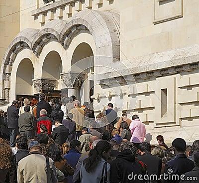 Het bidden van mensen Redactionele Foto
