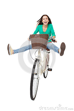 Het biking van de vrouw
