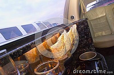 Het binnenland van de limousine