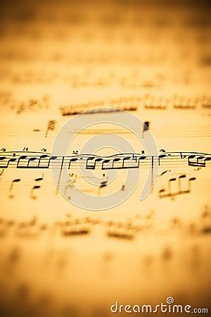Het blad van de muziek