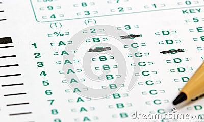 Het Blad van de test