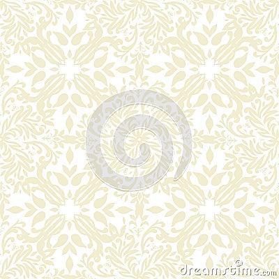Het bloemen beige herhaalt