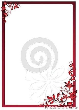 Het bloemenframe van de valentijnskaart