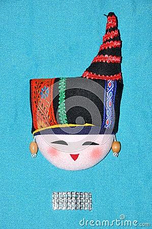 Het borduurwerk van de opschik van Chinese minderheidsstijl