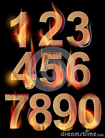 Het branden aantallen