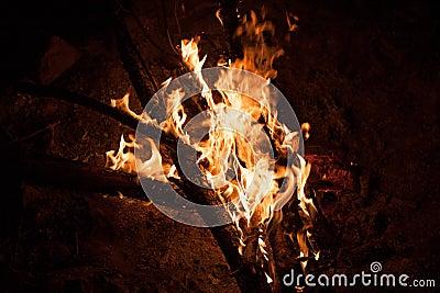 Het branden vuurnacht