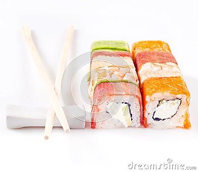 Het broodjesinzameling van sushi
