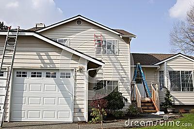 Het buiten schilderen van het huis royalty vrije stock afbeeldingen afbeelding 5047209 - Huis van kind buiten ...