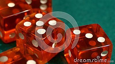 Het casino dobbelt pottenbakker stock footage