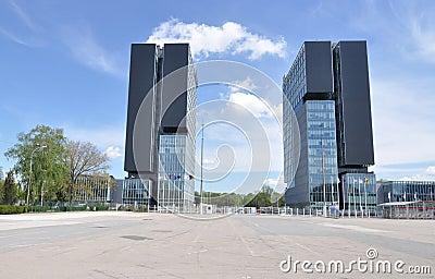 Het centrumtorens van de tentoonstelling