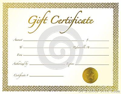 Het Certificaat van de gift