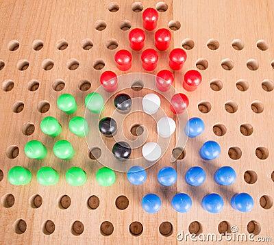Het Chinese spel van de controleurs houten raad