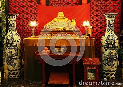 Het Chinese standbeeld van Boedha