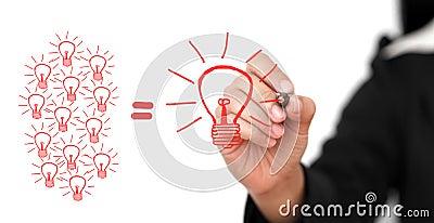 Het Concept van de brainstorming