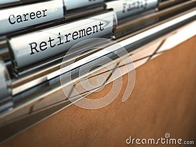 Het concept van de pensionering