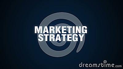 Het concept van de tekstanimatie Marketing Strategie stock illustratie