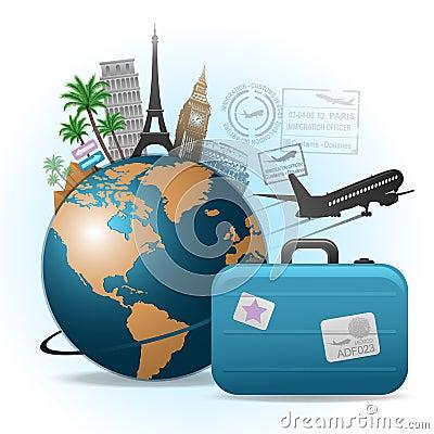Het conceptenillustratie van de reis