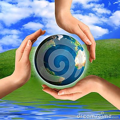 Het conceptuele Symbool van het Recycling