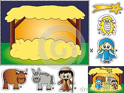 Het cut-and-paste van de geboorte van Christus