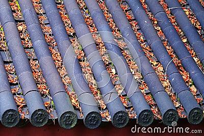 Het dak van oude stad Lijiang