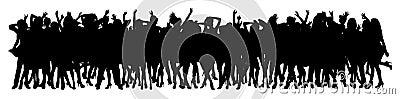 Het dansen menigte