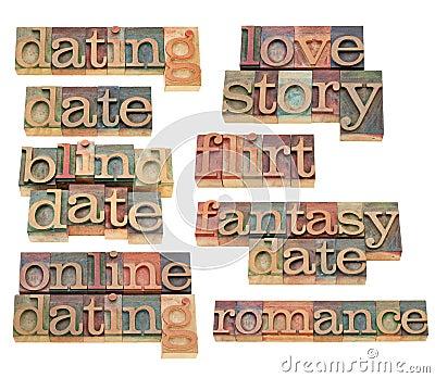 Het dateren, flirt en Romaans