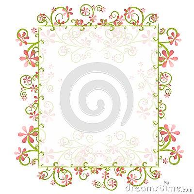 Het decoratieve Frame van de Grens van de Lente Bloemen
