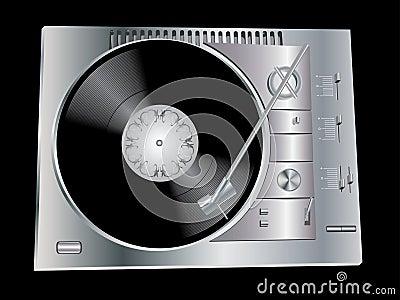 Het dek van DJ